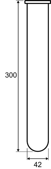 Dimensiones Tubos estándar de digestión Kjeldahl KTG 250 Gerhardt